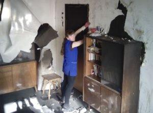 Уборка домов и коттеджей после пожара