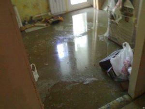 Уборка после затопления